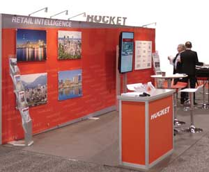 Rocket Retail booth at trade show